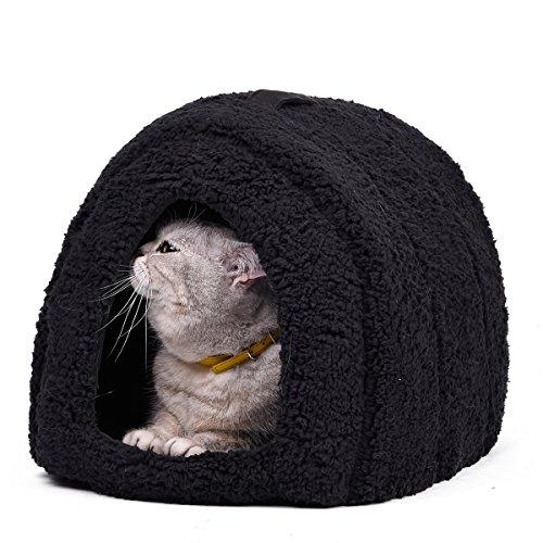 Cama con forma de cueva para mascotas