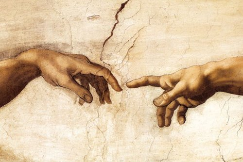empireposter - Michelangelo - Creation Hands - Größe (cm), ca. 91,5x61 - Poster, NEU -