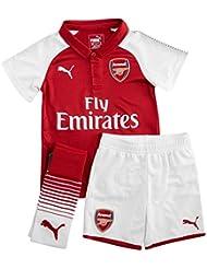 Arsenal 17/18 Home Mini Kids Football Kit - Red/White