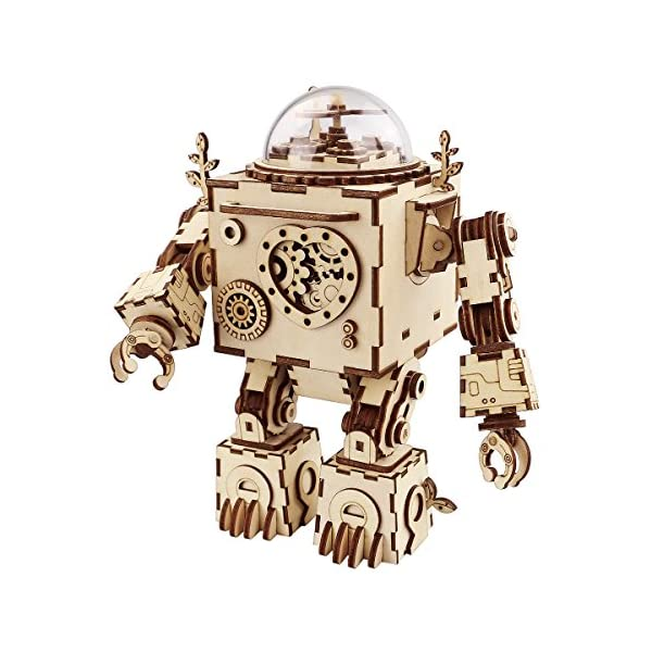Robotime Laser Cut Wooden Puzzle-DIY Mechanism Music Box-Wooden Model Building-Birthday for Kids and Adults 1