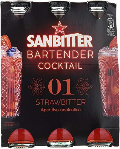 SanbittÈr bartender cocktail strawbitter, aperitivo analcolico 14cl x 3
