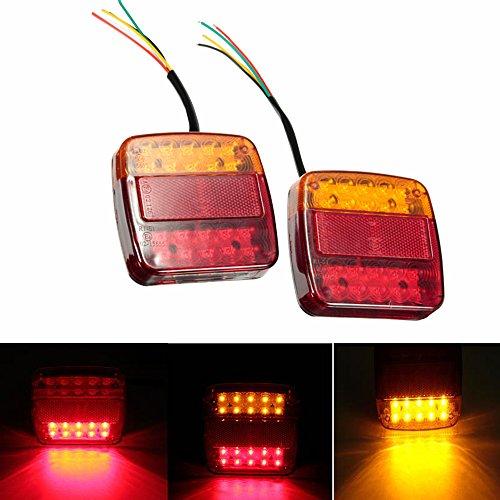 12 V Wasserdichte Anhänger Lkw 20 LED Rücklicht Rücklicht Lampen Blinker Brems Nummernschild Licht Lampe Für Anhänger Lkw (Led-brems-lichter Für Lkws)