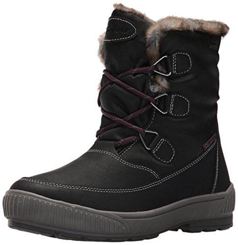 Skechers Damen Tex Stiefel Gefüttert Woodland Dry Quest Schwarz, Schuhgröße:EUR 39 (Winter Stiefel Skechers)
