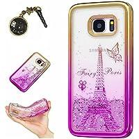 Laoke für Samsung Galaxy S7 Edge Hülle Schutzhülle Handy TPU Silikon Hülle Case Cover Durchsichtig Gel Tasche Bumper ( + Stöpsel Staubschutz)
