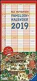 Ali Mitgutsch Familienkalender 2019 – Wandkalender – Familienplaner mit 5 Spalten – Format 22 x 49 cm: Rundherum in Stadt und Land