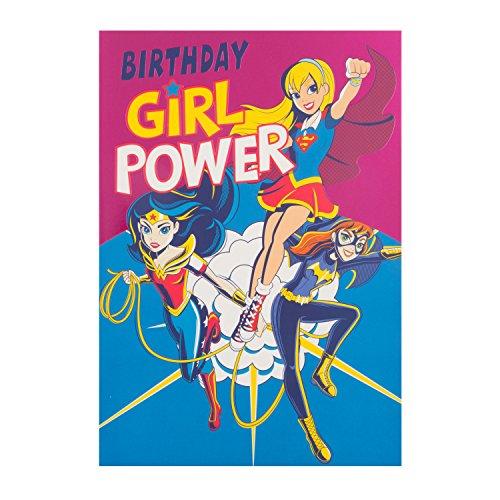 Hallmark 25491258DC Comics Geburtstag Karte Girl Power–Medium