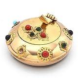 Pure Brass Gemstone Ash Tray Handicraft ...