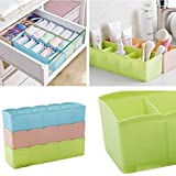 Diniva Socks Undergarments Storage Drawer Organiser Set of 4, (Colour May Vary)