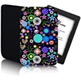 Biz-E-Bee Exclusive 'Psychedelic Jumble' Black [Tab PPW] KINDLE PAPERWHITE Shock & Water Resistant Neoprene Tablet Case, Cover, Pouch