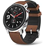 Amazfit GTR Stainless Steel Smartwatch with GPS+Glonass, All-Day Heart Rate Monitor, Daily Activity Tracker Rate and Activity