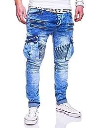 MT Styles Zipper style Biker Jeans Slim Fit pantalon homme RJ-3196