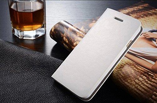 Coque Pour iPhone 5/5s, iNenk® PU cuir portefeuille téléphone sac à main affaire titulaire Shell mode Flip téléphone solide manchon protection pour hommes et femmes-rouge Blanc