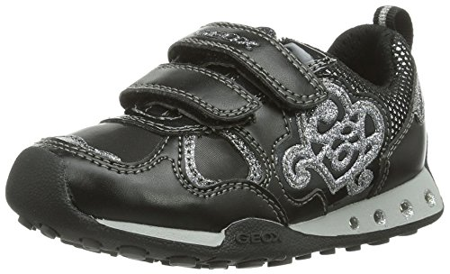 Geox JR NEW JOCKER GIRL, Mädchen Sneakers Schwarz (Blackc9999)