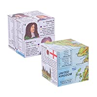 ZooBooKoo Educational Best of British Cubebook Pack - Kings & Queens and United Kingdom Fold-Out Cubes