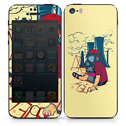 Apple iPhone 5c Case Skin Sticker aus Vinyl-Folie Aufkleber Atomkraft Graffiti Umwelt DesignSkins® glänzend