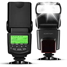 APEMAN E-TTL Speedlite de destello del flash para Canon, compatible con E-TTL y / / / Modo de flash M MULTI S1 S2, pantalla LCD, paquete portátil multi-funcional, de diseño exclusivo para Canon EOS DSLR