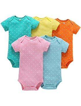 5PCS Set , Bambini Pagliaccetto,Body da neonato,Pagliaccetti per bambina, feiXIANG® Neonato Infante Bambino Ragazza...
