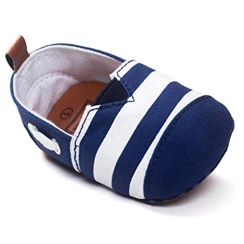 Hunpta Neue jungen Lauflernschuhe Baby Kleinkind weiche Sohle Leder Schuhe Baby Boy Girl Babyschuhe (11, Blau) Blau