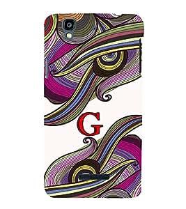 Fiobs abstract colourful vibrant design alphabet G Designer Back Case Cover for YU Yureka :: YU Yureka AO5510