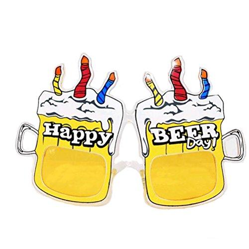 OULII Bier Becher Glas Bier fest verkleidete Sonnenbrille Lustige Neuheit Oktoberfest Partei Bevorzugungen