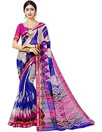 Attitudefashion Women's Cotton Half Saree (Kora Multi Pink_Multi-Color)