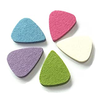 PEIUJIN 5 Pieces Felt Picks, Guitar Picks Plectrums for Ukulele, Multi-color