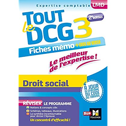 Tout le DCG 3 - Droit social - Entrainement et révision - 2ème édition