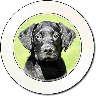 Schwarzer Labrador-Welpe AutovignetteGenehmigungsinhaber Geschenk