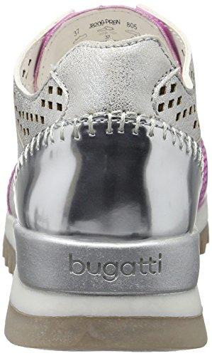 Bugatti J8209pr6n, Baskets Basses Femme Argent - Silber (silber 805)