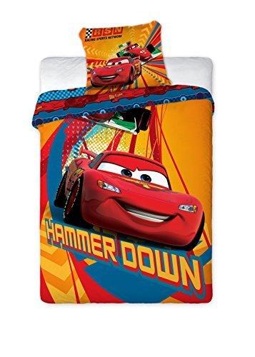 Preisvergleich Produktbild Original Disney Pixar Cars Bettwäsche Bettgarnitur 160x200 NEU Ã-ko Tex Baumwolle by Disney