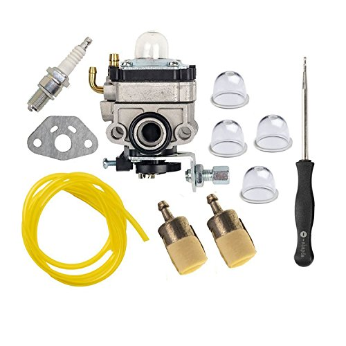 OxoxO Carburetor Carb Kit with Primer Bulb Gasket Fuel Line Filter Carb Adjustment Tool for Honda GX22 GX31 FG100 Mantis Tiller String Trimmer Brush Cutter (Carb Adjustment Tool)