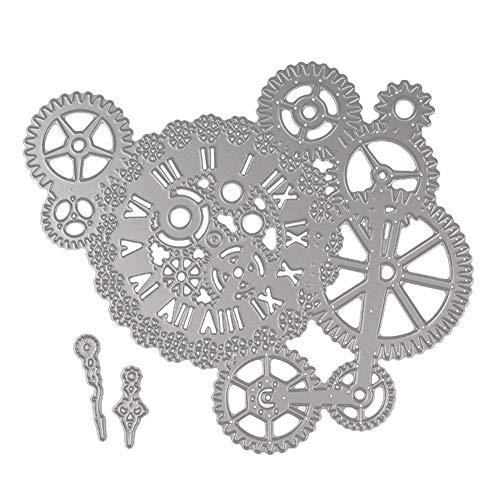 NaiCasy 1 PC-Zahnrad-Form Schneideisen-Metall Stencil-Schablone für DIY-Album Halloween Weihnachten Thanksgiving-Dekoration-Geschenk