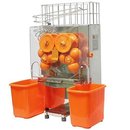 Chaneau Centrifugeuse Jus 120W Commercial Centrifugeuse Jus Orange 40-80mm Jus d'orange Machine...