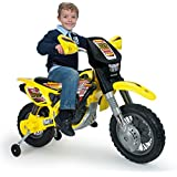 INJUSA- Moto Cross Thunder MAX VX de 12V con Ruedines, Color Amarillo y Negro (6811)