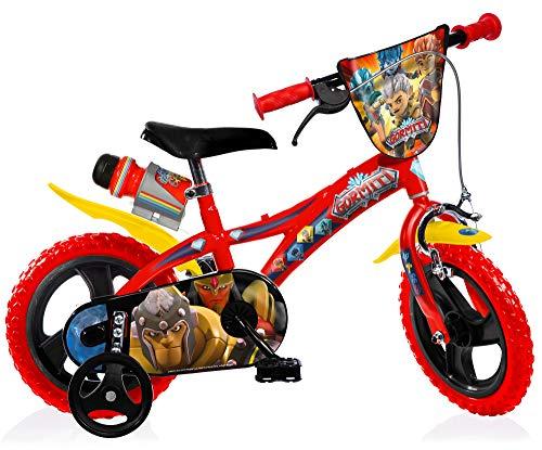 Gormiti Boy Bike 12 Inch Front Brake on Handlebar and Rear Fixed Pinion Brake Removable Trainingwheels Red
