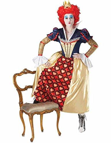 Rubíes - Traje de Carnaval Reina Roja Disney Alicia en el país de las maravillas película de la mujer atractiva