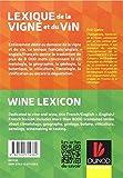 Image de Lexique de la vigne et du vin: Français/Anglais - Anglais/Français