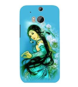 printtech Beautiful Anime Chinese Girl Back Case Cover for HTC One M8::HTC M8