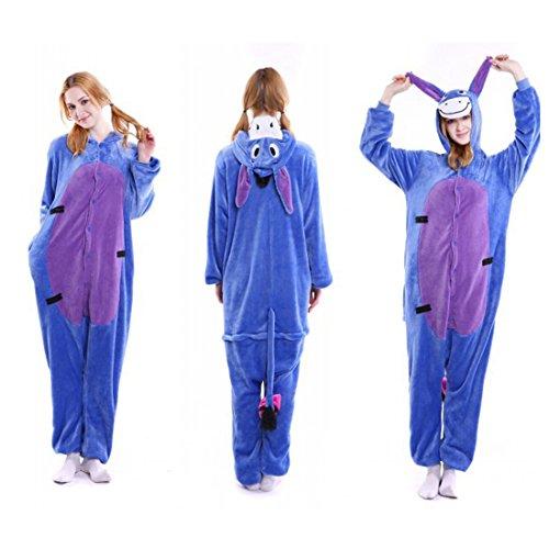 Imagen de kigurumi pijamas unisexo adulto traje disfraz adulto animal pyjamas iflife s para altura 148 158cm , burro  alternativa