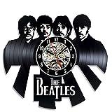 Beatles-Band Vintage-Vinyl Wanduhr Schlafzimmer-Dekoration