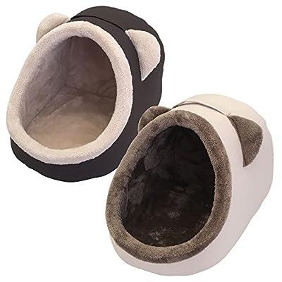 Heritage Pet Cat Kitten Soft Plush Igloo Bed Warm Cave House Mat Puppy Dog Snug
