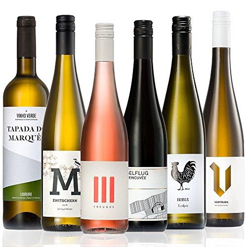 GEILE WEINE Weinpaket SOMMERWEINE (6 x 0,75l) Probierpaket mit Weißwein, Rotwein und Roséwein von...