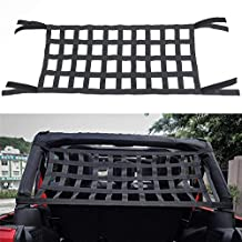 Bosmutus Rear Top Cargo Net for Jeep Wrangler,Car Roof Hammock Car Bed Rest Jeep