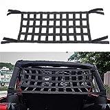 Rear Top Cargo Net for J-eep Wrangler ,Car Roof Hammock Car Bed Rest J-eep Wrangler Accessories JK YJ TJ JL 1996-2018 Roof Storage Roll Cage Bar Restraint