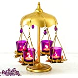 Home Centre Galen Lotus Merry-Go-Round Votive Holder