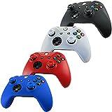 Pandaren® Piel Fundas Protectores para el Mando Xbox One x 4 + pulgar agarre thumb grip x 8(rojo azul blanco negro)