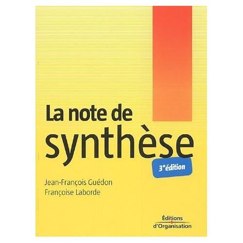 La note de synthèse de Jean-François Guédon (17 mars 2005) Broché