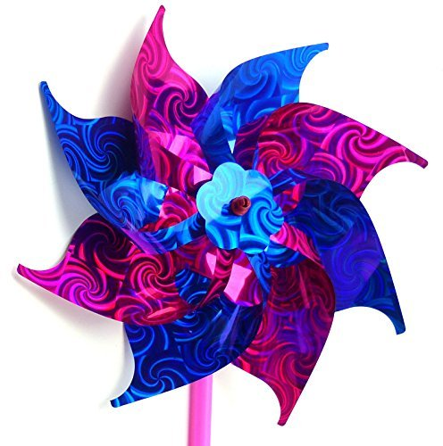 ndspiele Windräder Haus und Garten Deko der extra Klasse! viele Modelle im schönem Design (BLAU-LILA) 2981 (Blaue Windräder)