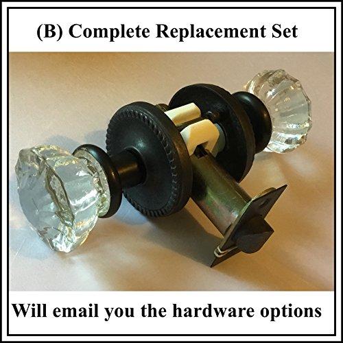 Reparaturset für antikes Knauf-Set oder andere Gewinde-Knöpfe Email Assistance Guaranteed to Fix the problem Oil Rubbed Bronze (B) (komplettes Ersatzset)