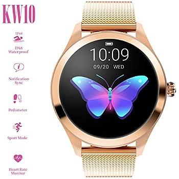 Smart Watch New Kw10, para Mujeres Reloj Deportivo al Aire Libre Inteligente, Sleep Impermeable y presión Arterial Monitor de oxígeno/calorías ...